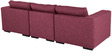 Emilio Superb Three Seater Modular Sofa in Maroon Colour by Furny