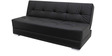 Emry 3 Seater Sofa Bed Leatherette in Black Colour by Furny