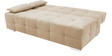 Emry Superb Upholstered Sofa Bed with Sunrise Fabrics in Cream Colour by Furny