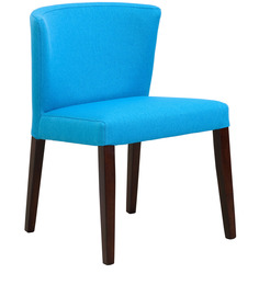 Emilio Dining Chair (Set Of 2) In Cerulean Blue Colour By CasaCraft