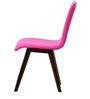 Emiliano Dining Chair (Set of 2) in Magenta Pink Colour with Cappucino Legs by CasaCraft