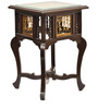 Teak Wood End Table In Walnut Finish by ExclusiveLane