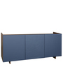 Side Board in Velvet Blue & Versailles Finish by Arancia Mobel