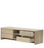 Entertainment Unit with 4 Drawers in Light Oak Finish by Marco