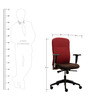 Equus Series A High Back Office Chair in Red and Black Mix colur by BlueBell Ergonomics