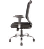Ergonomic Aspire Medium Back Chair in Black Colour by FabChair