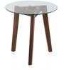 Eric End Table in Dark Walnut Colour by @home