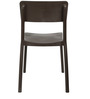 Eskimo Cafeteria Chair Set of Two in Brown Colour by Cello