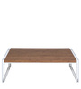 Essen Coffee Table in White and Walnut Finish by Evok