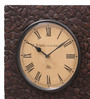 Ethnic Clock Makers Brown MDF & Metal 12 Inch Round  Handmade Wall Clock