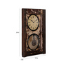 Ethnic Clock Makers Brown Solid Wood 15 x 3 x 24 Inch Recycled Window Vintage Desk Clock
