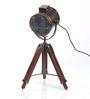 Ethnic Roots Antique Brown Teak Wood Tripod Table Lamp