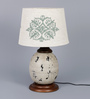 Ethnic Roots Cream Cotton Table Lamp