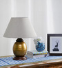 Alanzo Table Lamp in Beige by CasaCraft