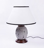 Aida Table Lamp in White by CasaCraft