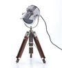 Ethnic Roots Nickel Finish Silver Metal Table Tripod Lamp