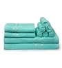 Eurospa Aqua 100% Cotton Bath, Hand and Face Towel - Set of 10