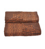 Eurospa Brown Cotton 24 x 16 Inches Ramon Yd Jacquard Hand Towels - Set of 3