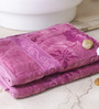 Eurospa Marvel Purple Cotton Bath Towel - Set of 2