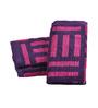 Eurospa Magenta Cotton 24 x 16 Inches Ramon Yd Jacquard Hand Towels - Set of 3