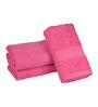 Eurospa Pink Cotton 24 x 16 Paradise Hand Towels - Set of 3