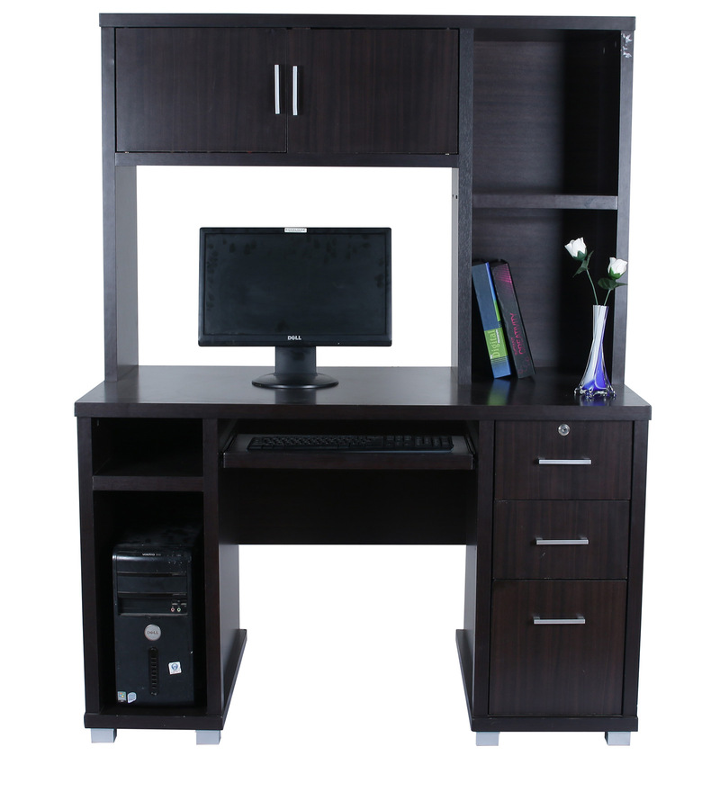 Buy Eva Computer Table In Chocolate Colour By Royal Oak