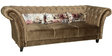 Exclusive Luxurious Three Seater Sofa in Light Brown Suede Fabric by Parin