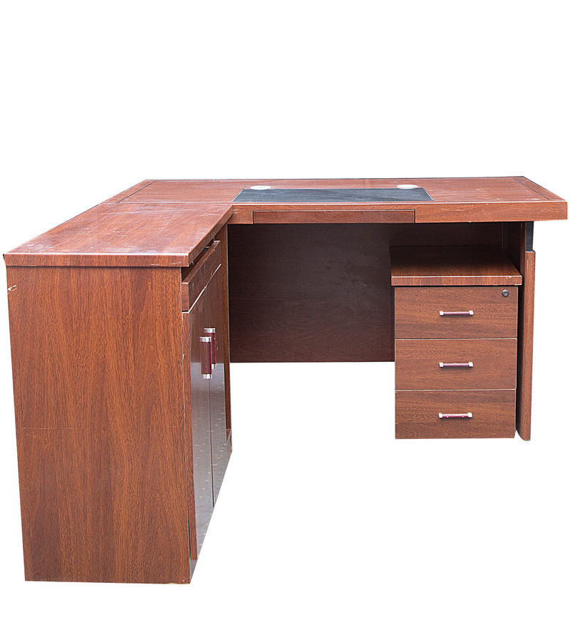 Buy Executive Office Table With Side Runner Amp Drawer Cart