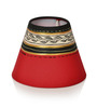 ExclusiveLane Red & Black Terracotta Madhubani Table Lamp