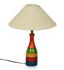 ExclusiveLane Multicolour Polyvinyl & Wood Lamp