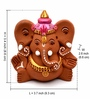 Exclusivelane Brown Terracotta Hand Painted Sitting Ganesha with Elephant Like Ears
