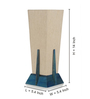 Exclusivelane Cream Polyvinyl Pyramid Table Lamp