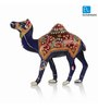 Exclusivelane Royal Blue Metal Meenakari Standing Camel Showpiece