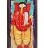 Exclusivelane Multicolour Canvas & Mdf Bal Ganesha Hand Painted Key Holder
