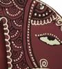 Exclusivelane Purple Recycled Wood Hand Painted Elephant Fridge Magnet Cum Photo Frame