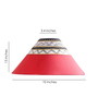 ExclusiveLane Red Cloth Conical Lamp Shade