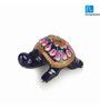 Exclusivelane Royal Blue Metal Hand Enamelled Meenakari Tortoise Showpieces - Set of 2