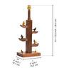 ExclusiveLane Green & Brown Polyvinyl & Sheesham Wood Lamp