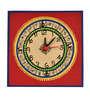 Exclusivelane Red Recycled Wooden Table Clock