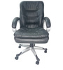 Ergonomic Black Medium Back Ergonomic Office Chair by Adiko Systems