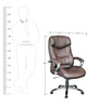Executive Brown Leatherette Executive Chair by Adiko Systems