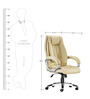 Executive High Back Office Chair in Cream Colour by Adiko Systems