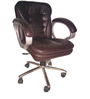 Executive Low Back Office Chair in Brown Colour by Adiko Systems