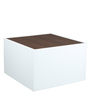 Expandable Coffee Table in Off-White & Brown Finish by Arancia Mobel