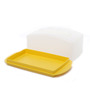 Tupperware Yellow 500 ML Butter Storer and Server with Lid - Set of 2