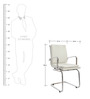Extra Cushioned Mid Back office Chair in White Colour by FabChair