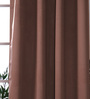 Eyda Choco Polyester 53 x 84 Inch Plain Black Out Door Curtains - Set of 2
