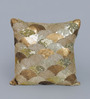 Eyda Gold Polyester 16 x 16 Inch New Glamour Cushion Cover