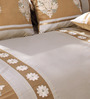 Eyda Ivory Polyester Damask Diwan Set - Set of 6