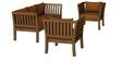 Falcon Sofa Set in Walnut Finish by CasaTeak